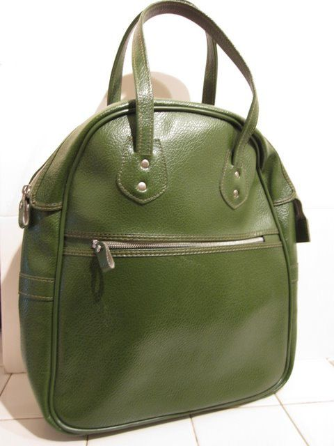 Cute Lil' Green Tote Bag  by cnstark on Etsy, $15.50    Vintage Bags and Purses Case handbag purse luggage tote diaper bag 70s small retro carry on green vegan boho unisex