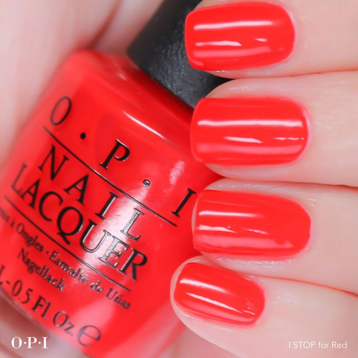 This new #OPIBrights shade is sure to be a show stopper! Shade shown: I STOP For Red.