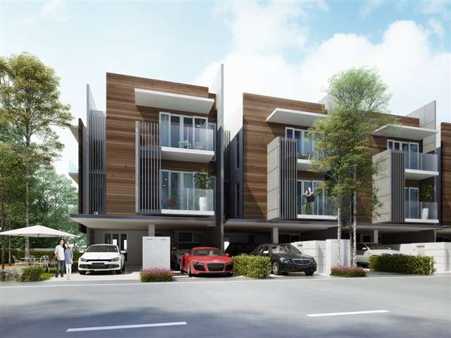 124 best images about malaysia modern villas on pinterest for Townhouse architecture designs