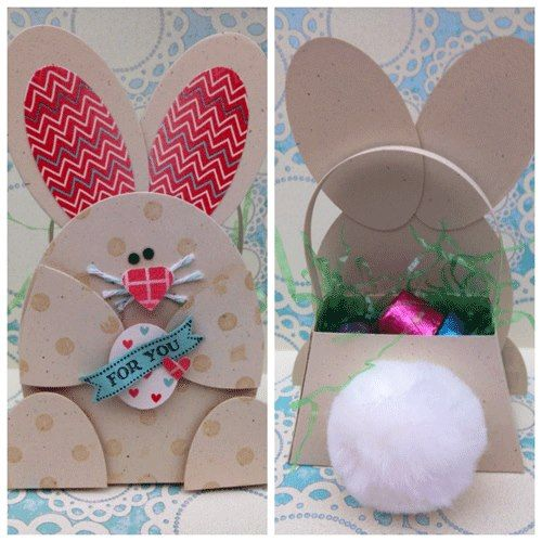256 best treat boxesbags easter images on pinterest cookie darling bunny easter basket negle Images