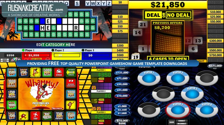 FREE macro-enabled Press Your Luck PowerPoint Scoreboard and - jeopardy powerpoint template