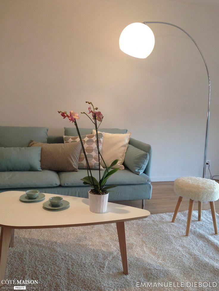 Salon dappartement dans un style neo vintage scandinave