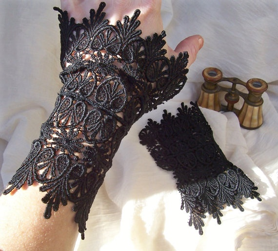 Lace wrist cuffs from etsy