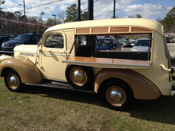 this 1941 Chevrolet Canopy Express is gorgeous