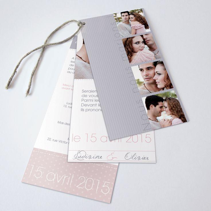 Faire-part de mariage personnalisés sur faire-part.creatif.com, faire-part Trio