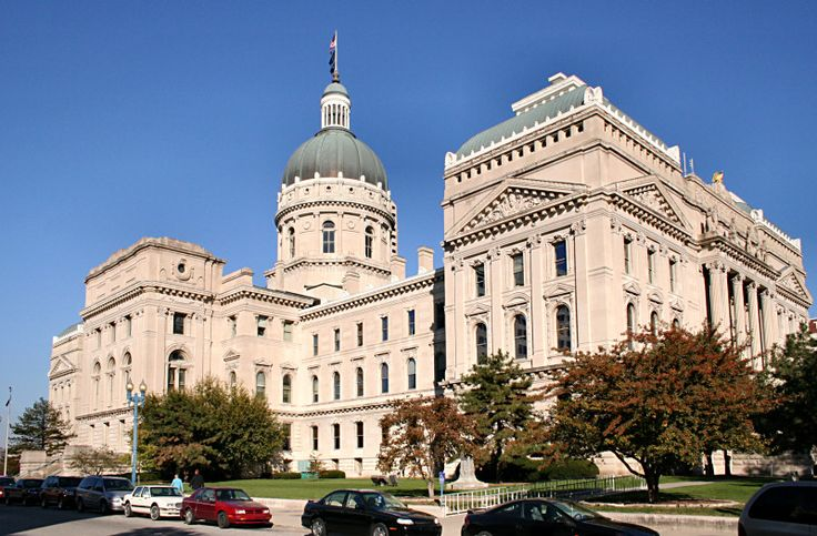 State capitol in Indianapolis, Indiana.