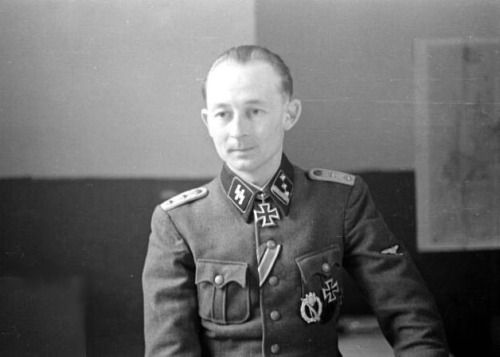 SS-Hauptsturmführer Paul Maitla of the 20. Waffen Grenadier Division der SS (estnische Nr 1) photographed shortly after winning the Knight's Cross for leading the recapture of the central hill of the Sinimäed during the Battle of Tannenberg Line, effectively braking the Soviet offensive in that sector. As an officer in the former Estonian Army he attended and graduated from SS-Junkerschule Bad Tölz officer training in 1943.