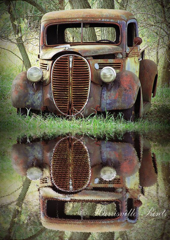 Old Truck Photography, FORD PICKUP, 5 x 7 art print, rusty ...