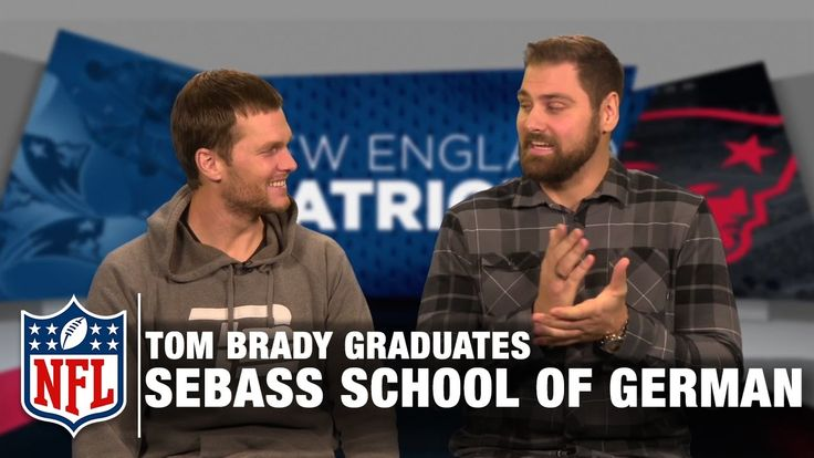 Tom Brady Tries to Speak German in Sebastian Vollmer's School of German | Patriots | NFL - YouTube