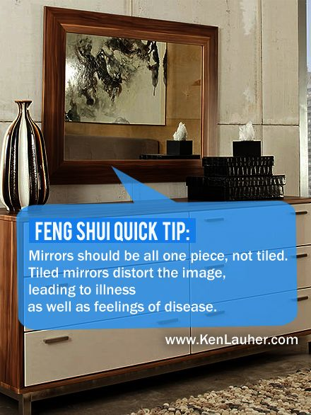 feng shui tip mirrors should always be in one piece bad feng shui mirror facing