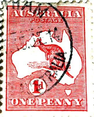 australian one penny stamp