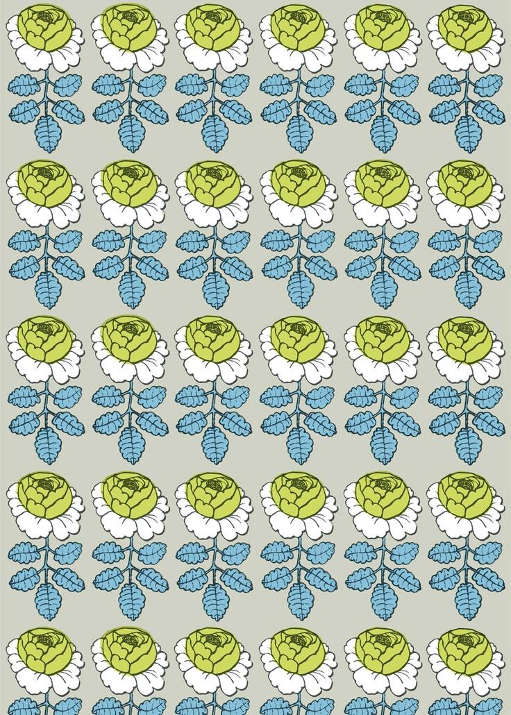 Maalaisruusu fabric by marimekko