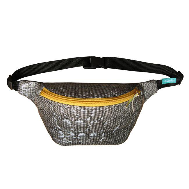 lukola handmade: Nerka pikowana w koła z żółtym zamkiem // Quilted ...