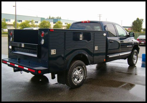 Utility Truck Bumpers : Service truck bodies omaha body high canopy with