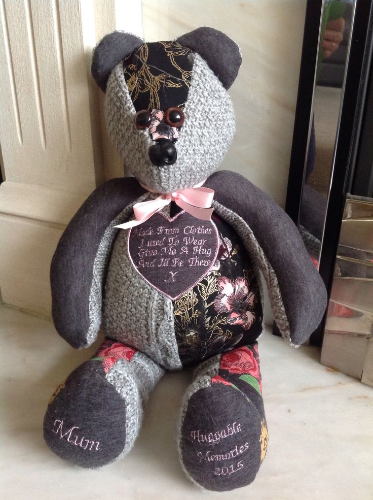 Lovely, this time a poem was asked for, so I place one in a heart on the front of the memory bear.