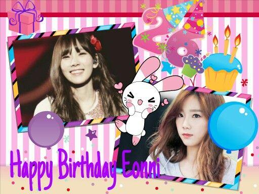 Happy Birthday Kim Taeyeon ☺☺