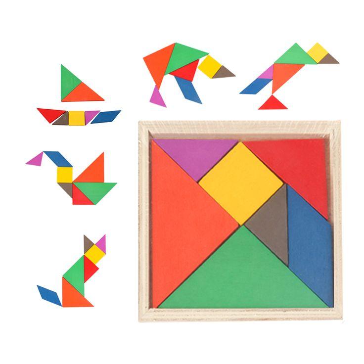 Tangram, 24 Kč včetně dopravy Hračky, montessori pomůcky, věci na tvoření z Aliexpressu #hračky #puzzle #matematika #fyzika #sluch #tvoření #děti #rodina #montessori #tip3dmámablog #aliexpress