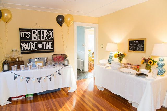 40th birthday beer party theme