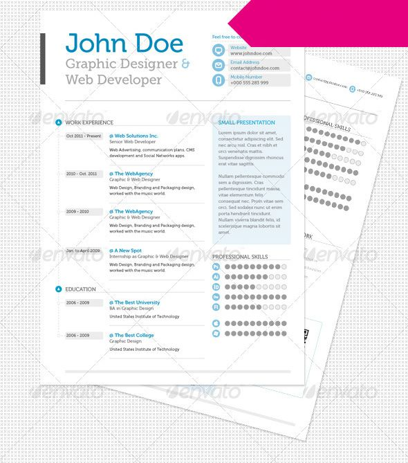 216 best CVS images on Pinterest Page layout, Resume and Resume - web developer resume template
