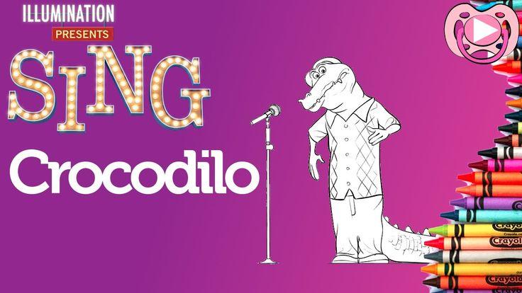 Personagens do Filme Cantar 🎙️ Colorir o crocodilo