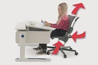 #Arredamento per #Bambini - la #sedia ergonomica abbinata alla #scrivania ergonomica consente al #bambino una posizione rilassata e previene i danni posturali. | #Padova