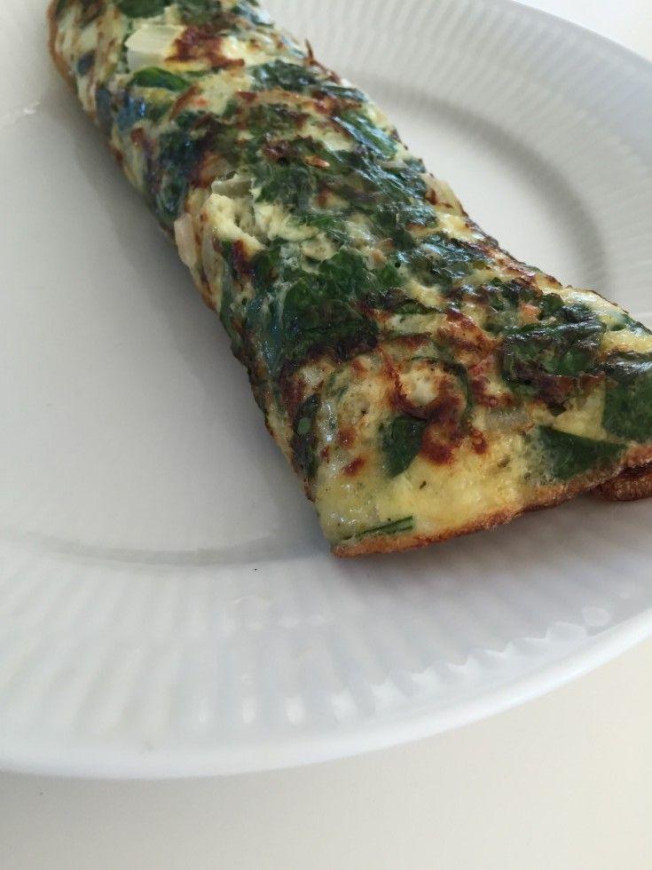 Nem og hurtig opskrift, hvor man nemt kan tilføje det fyld man har lyst til. Jeg bruger ofte pandekagen til aftensmad - men den er også super lækker i madkassen dagen efter. Det skal du bruge: 2 æg 1/2 dl mælk 20 gram frisk spinat (skal hakkes let) 1/2 løg Lidt chili Salt, peber og evt ....