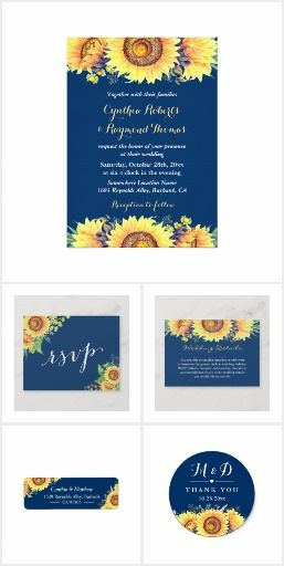 a846c7780be9 Rustic Sunflowers Navy Blue Invitation Suite  rusticweddinginvitations   countryweddingideas