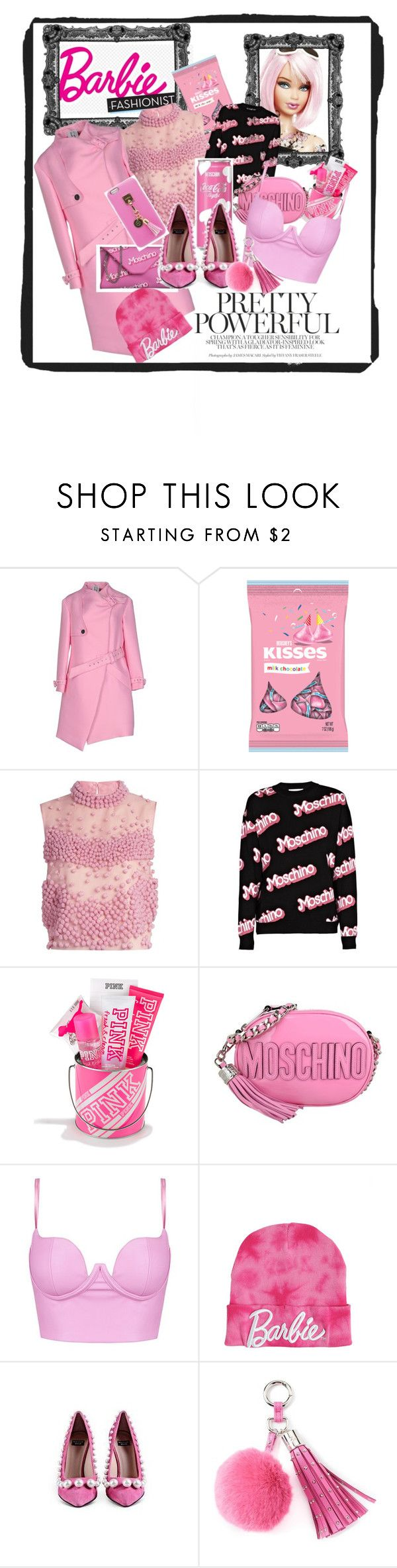 """""""barbie fashion"""" by anya2991 on Polyvore featuring moda, UNIQUENESS, Hershey's, Roksanda, Moschino, Juicy Couture e Iphoria"""