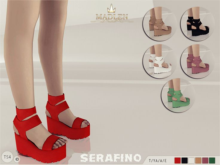 Shoes: Madlen Serafino Sandals by from The Sims Resource