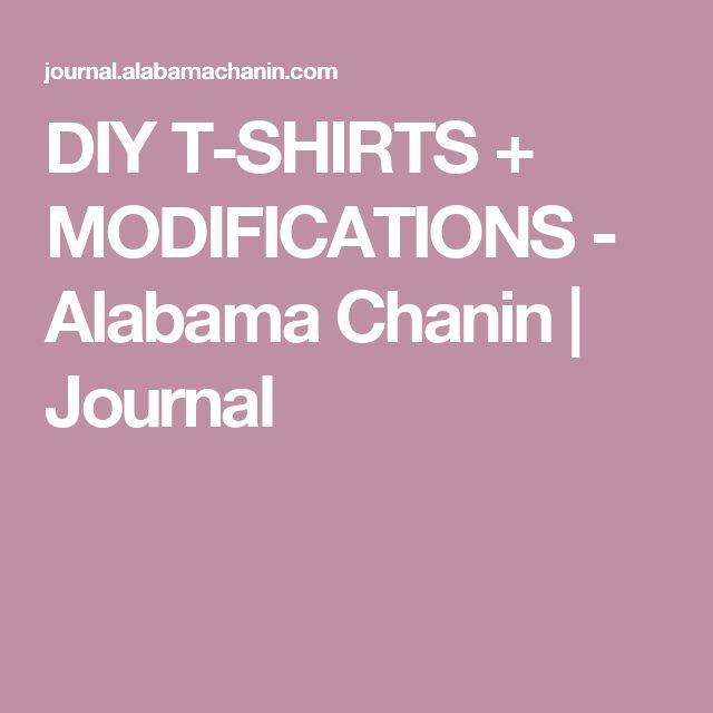 DIY T-SHIRTS + MODIFICATIONS - Alabama Chanin   Journal