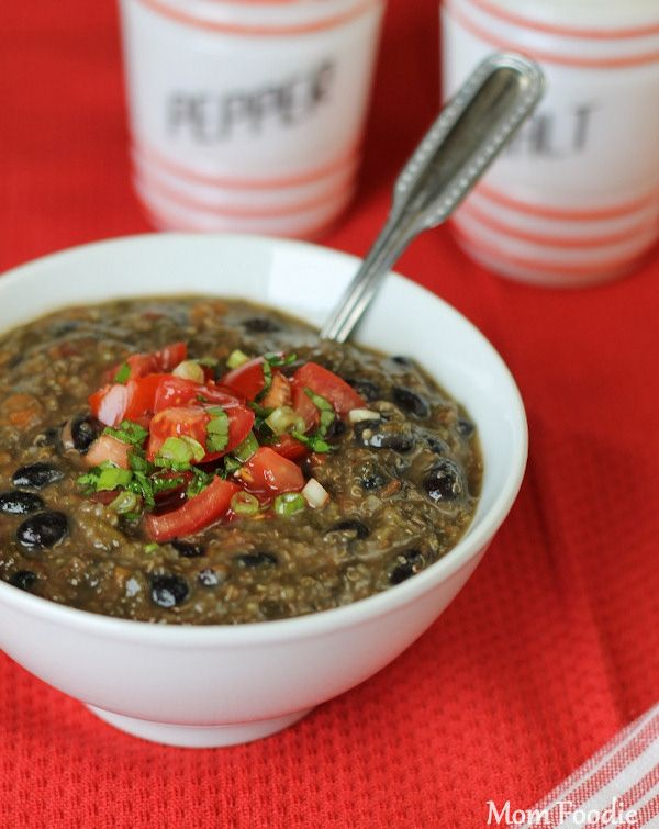 black bean quinoa soup