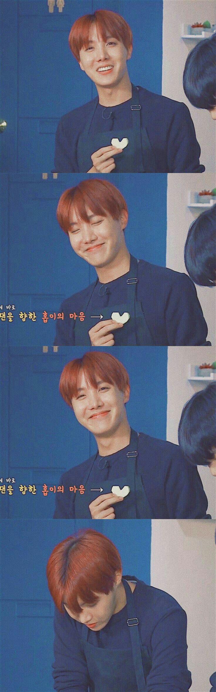 J-Hope and his heart shaped radish. <3 <3 <3