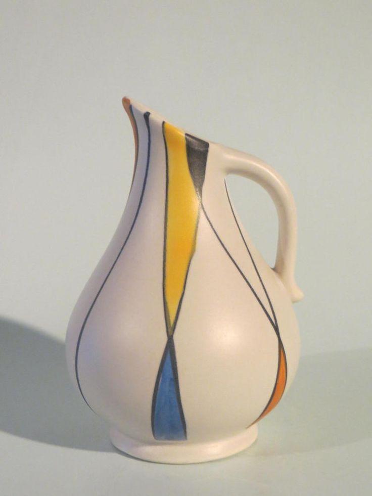 50er Jahre Keramik Vase Zeller Keramik / SCHMIDER - Form 3965-2 - Dekor 1818