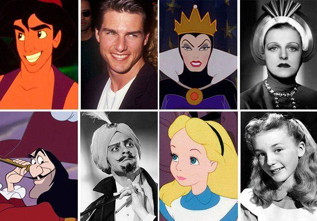 Quem nunca se apaixonou por um personagem da Disney? Quem não tem seu preferido? Então é ainda melhor saber que algumas dessas figuras que marcaram a infância de muita gente foram inspiradas em pessoas reais. Legal também é ver as semelhanças, que podem ir além das físicas, que existem entre as pessoas inspiradoras e as personagens a que deram origem. O certo é que você nunca mais vai ver estas personagens do mesmo jeito: Aladdin – Tom Cruise Ariel (A Pequena Sereia) – Alyssa Milano Capitão…