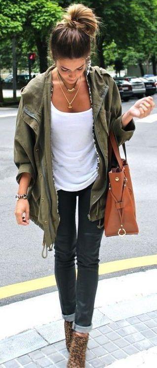 #fall #fashion / military jacket