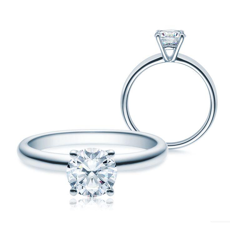 Verlobungsring Platin 0,5 - 1ct Tw/si Verlobungsringe Platin #Einkaraeter #Diamantring #solitaer #rings