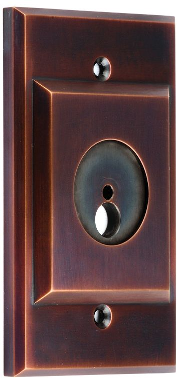 Auroralight solid copper cover plate, featuring silicone gaskets and our Bronze Living Patina (BLP) finish.