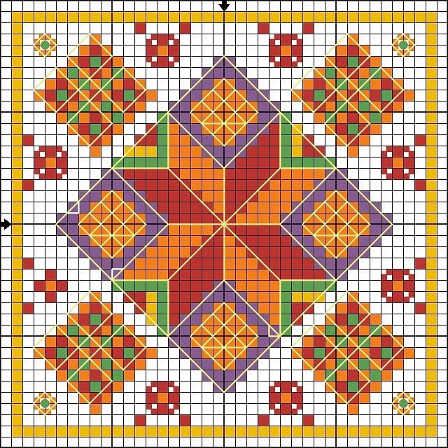 Cross-stitch Biscornu  ... no color chart available, just use pattern chart as your color guide.. or choose your own colors...    Gallery.ru / Фото #3 - Игольницы - TIMOSHAVA