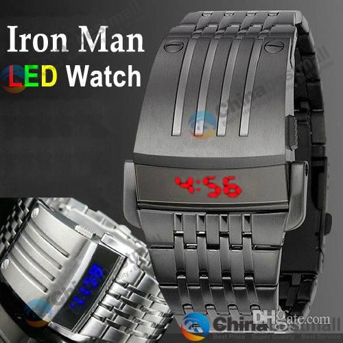 Wholesale Wristwatches - Buy NEW Fashion Luxury Watches Iron Man Watch China Watches LED Stainless Steel Watch for Mens, $16.56 | DHgate