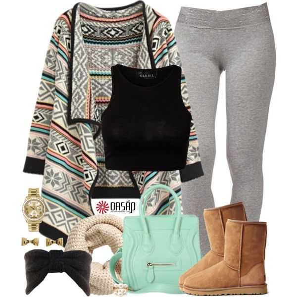 A fashion look from November 2014 featuring Forever 21 leggings, UGG Australia ankle booties and Rolex watches. Browse and shop related looks.