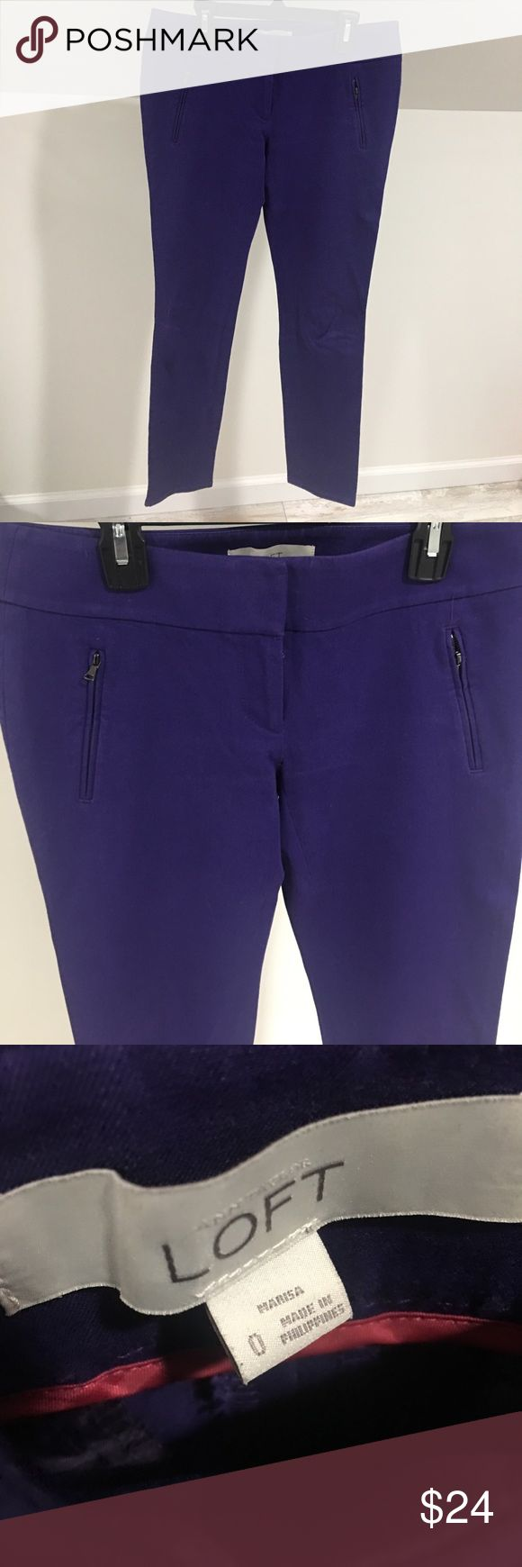 "Anne Taylor Loft Purple Pants Gorgeous purple pants from Anne Taylor Loft.  Great condition. 27"" inseam.  No trades and no holds LOFT Pants Trousers"