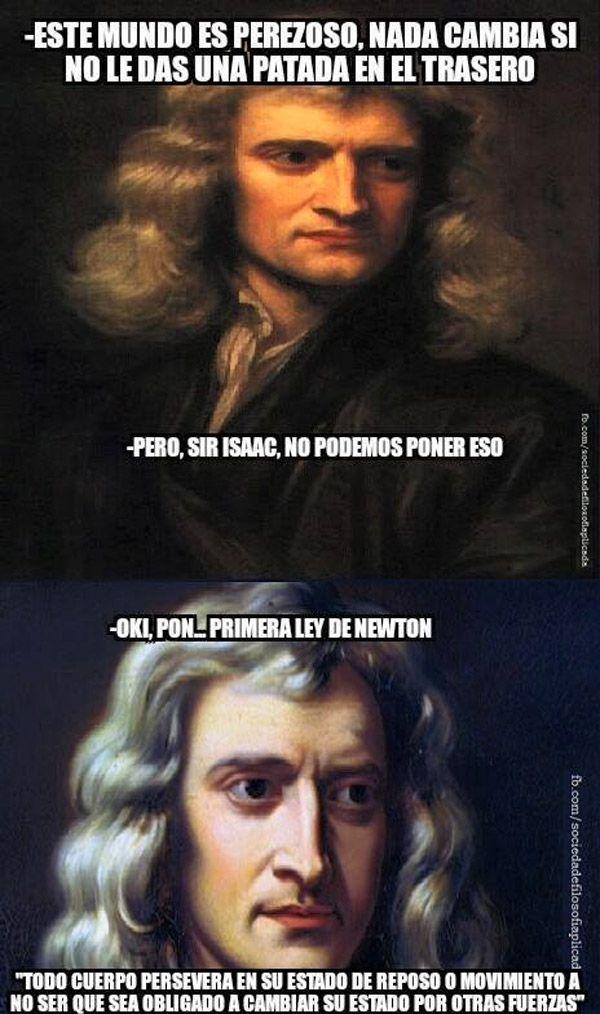 Sir Isaac, no podemos poner eso. #humor #risa #graciosas #chistosas #divertidas