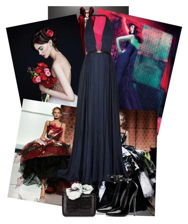 """Gown"" by elif-eylul on Polyvore featuring moda, Alexander McQueen, Dolce&Gabbana, Jason Wu ve Nancy Gonzalez"