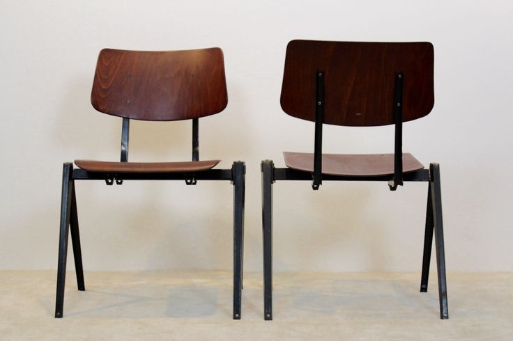 Vintage Stackable S16 Industrial Dining Chair from Galvanitas, 1960s 1