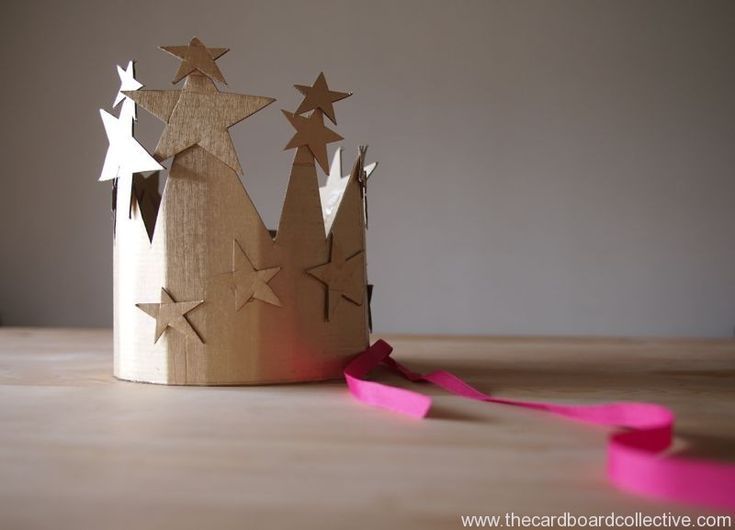 DIY Starry Cardboard Birthday Crown by Cardboard Collective