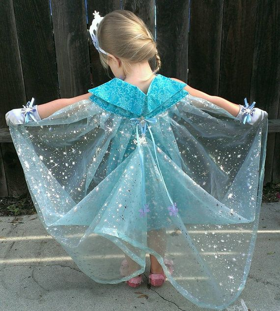 Queen Elsa Cape with Bustle: Silver Snowflake by TheCleverNoun