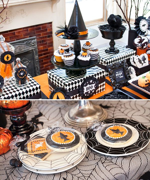 Bewitching Halloween Party Ideas~: Food Display, Bewitching Halloween, Halloween Party Ideas, Hallows Eve, Party Table, Halloween Cupcake