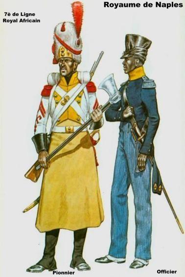 7e ligne Rgt Royal d'Afrique- 1812