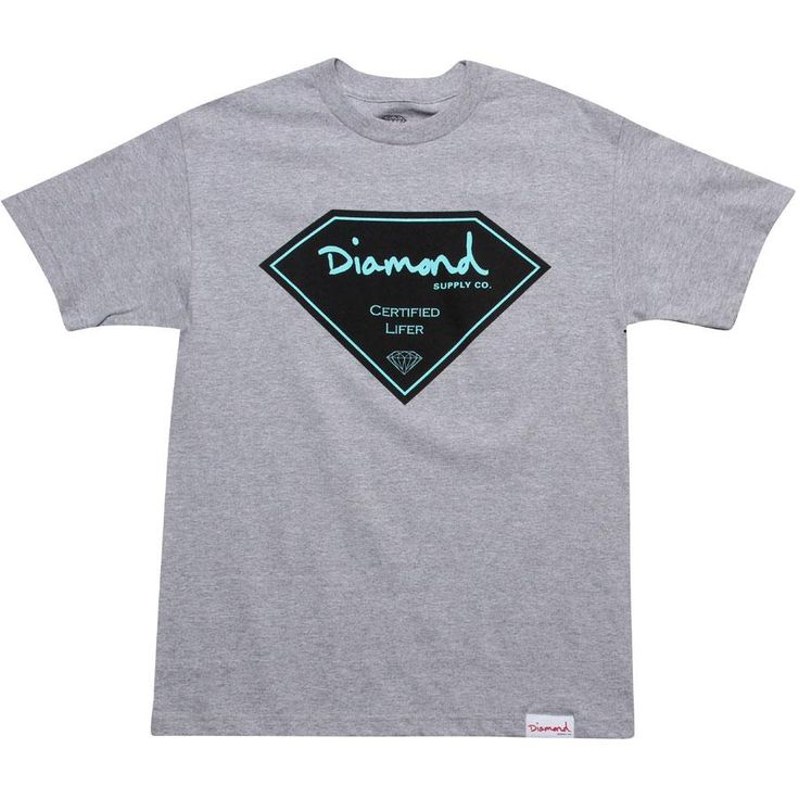 Diamond Supply Co Company Certified Lifer Tee (heather) CERTLIFERHEA - $32.00