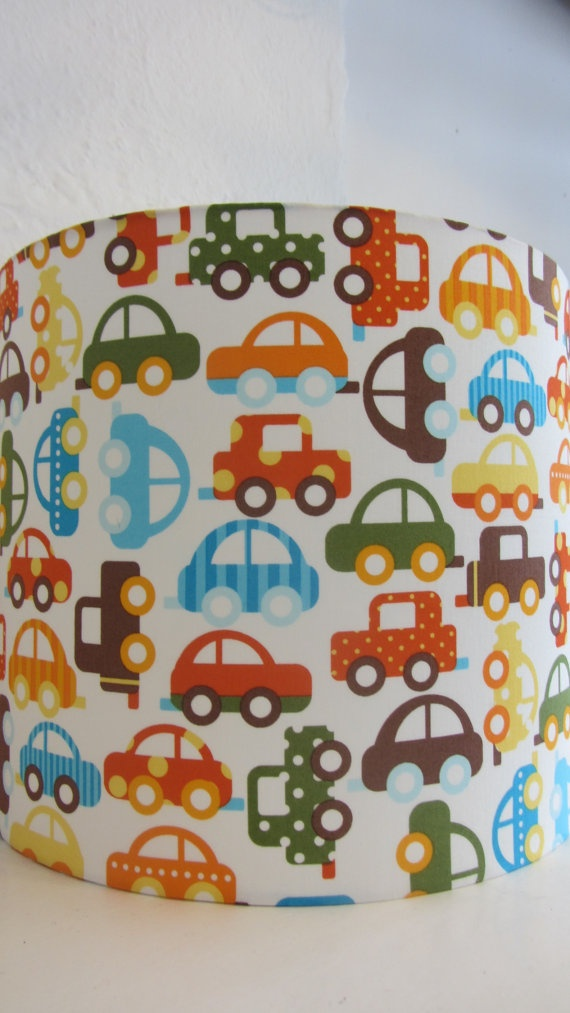 123 best cute childrens lampshades nursery lighting ideas boys retro car fabric lampshade by leilashepherd on etsy 4600 mozeypictures Images